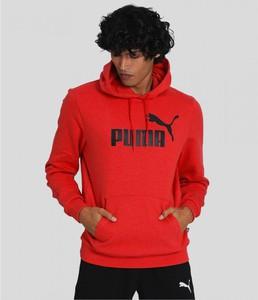 Czerwona bluza Puma w sportowym stylu z bawełny