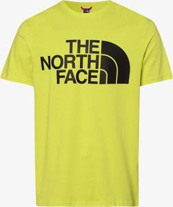 Zielony t-shirt The North Face z krótkim rękawem z dżerseju