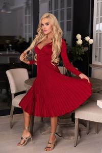 Sukienka MERRIBEL z bawełny z długim rękawem
