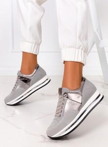 Buty sportowe Kati z płaską podeszwą ze skóry