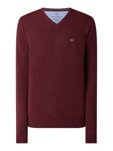 Czerwony sweter Fynch Hatton w stylu casual z bawełny