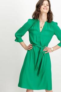 Zielona sukienka Garcia z dekoltem w kształcie litery v
