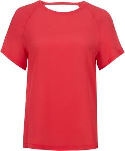 Czerwona bluzka Pinko w stylu casual z tkaniny z krótkim rękawem