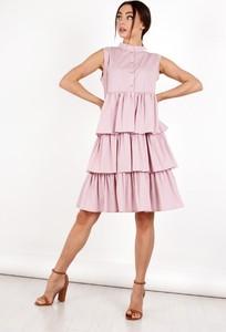 Sukienka Ptakmoda.com koszulowa mini z tkaniny