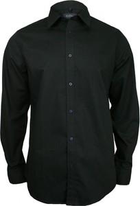 Czarna koszula Chiao z długim rękawem