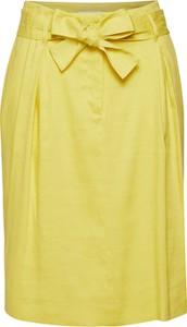 Żółta spódnica René Lezard w stylu casual