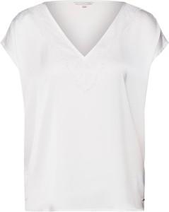 Bluzka Tom Tailor Denim z dekoltem w kształcie litery v z krótkim rękawem
