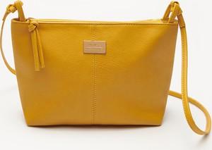Żółta torebka House na ramię w stylu casual średnia