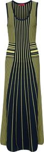 Sukienka Hugo Boss oversize midi z okrągłym dekoltem