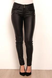 Czarne spodnie Saint Germain Paris w rockowym stylu