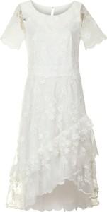 Sukienka Poza z okrągłym dekoltem z krótkim rękawem