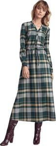 Zielona sukienka Colett z długim rękawem maxi