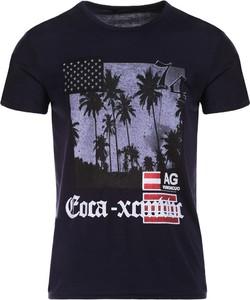 T-shirt born2be z nadrukiem z krótkim rękawem