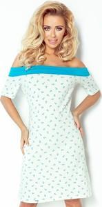 Sukienka NUMOCO z długim rękawem z odkrytymi ramionami midi