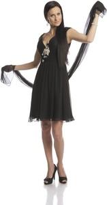 Sukienka Fokus w stylu glamour midi z jedwabiu