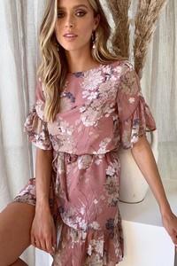 Sukienka Ivet.pl mini z okrągłym dekoltem
