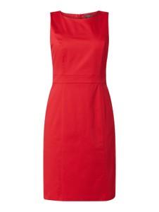 Czerwona sukienka Montego z bawełny z okrągłym dekoltem mini
