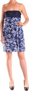 Niebieska sukienka Pinko mini