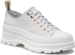 Buty sportowe Carinii ze skóry na platformie sznurowane