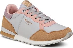 Buty sportowe Pepe Jeans z płaską podeszwą