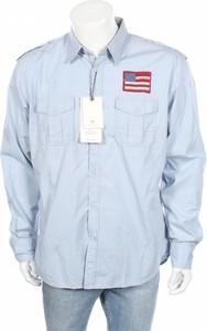 Niebieska koszula Tom Tailor z długim rękawem z klasycznym kołnierzykiem