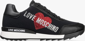 Czarne buty sportowe Love Moschino sznurowane