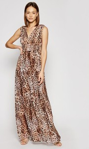 Sukienka Guess by Marciano bez rękawów maxi z dekoltem w kształcie litery v