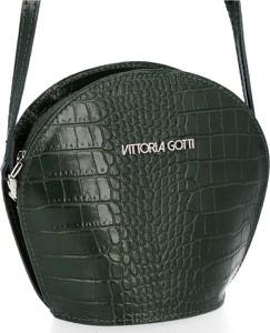 Zielona torebka VITTORIA GOTTI z tłoczeniem ze skóry na ramię