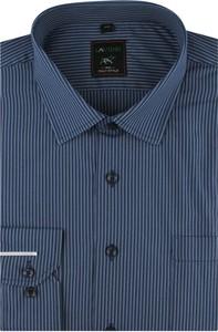 Niebieska koszula Laviino z długim rękawem