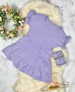 Fioletowa sukienka dziewczęca Vanilove