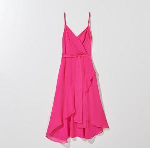 Różowa sukienka Mohito z dekoltem w kształcie litery v