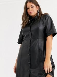 Czarna sukienka Asos z tkaniny