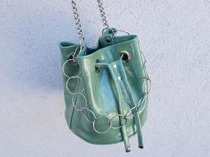 Zielona torebka Ep Ewa Pawlikowska w wakacyjnym stylu mała na ramię