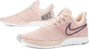 Różowe buty sportowe Nike z płaską podeszwą zoom