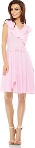 Różowa sukienka Lemoniade mini z dekoltem w kształcie litery v