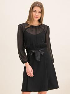 Czarna sukienka iBlues rozkloszowana mini w stylu casual