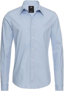 Błękitna koszula g-star raw z bawełny