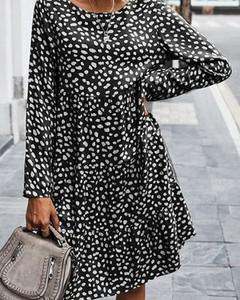Czarna sukienka Kendallme w stylu casual mini z długim rękawem