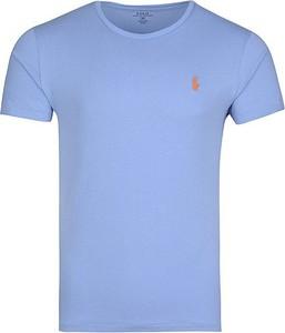 Niebieski t-shirt Ralph Lauren z krótkim rękawem w stylu casual