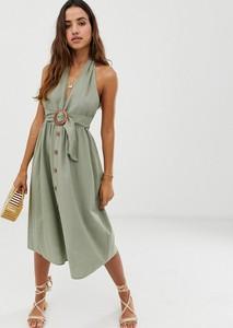Sukienka Asos Design z dekoltem halter midi