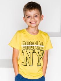 Żółta koszulka dziecięca Ombre Clothing