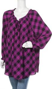 Fioletowa bluzka Catherines w stylu casual z długim rękawem