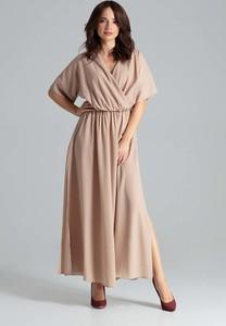 Sukienka Katrus kopertowa w stylu casual