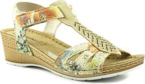 Żółte sandały Inblu w stylu casual