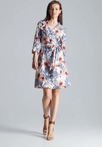 Sukienka Figl z długim rękawem mini z dekoltem w kształcie litery v
