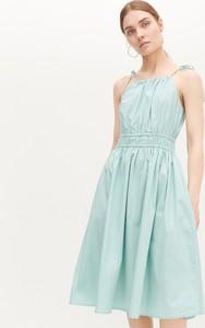 Turkusowa sukienka Reserved bez rękawów