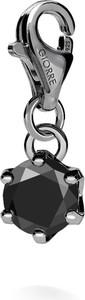 GIORRE SREBRNY CHARMS DIAMENT SYNTETYCZNY 0.9K 925 : Kolor pokrycia srebra - Pokrycie Czarnym Rodem