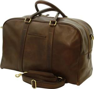 Brązowa torba podróżna Officina 66 ze skóry