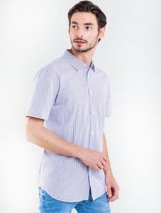 Niebieska koszula Big Star z bawełny w stylu casual z krótkim rękawem
