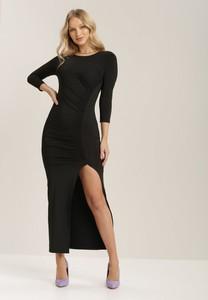 Czarna sukienka Renee z długim rękawem maxi